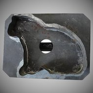 Vintage Primitive Dark Tin Cat Cookie Cutter