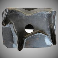 Primitive Vintage Dark Tin Cow Cookie Cutter