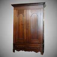 Antique 1800's Two Door Walnut Wardrobe