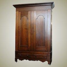 Antique 1800's Two Door Walnut Wardrobe