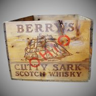 Vintage Cutty Sark Scotch Whisky Wooden Box Shipped To Ohio
