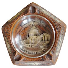 Vintage Souvenir Washington DC Capital Ash Tray