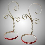 Vintage Wrought Iron Garden Plant Holders