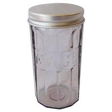 Vintage Hoosier Glass Spice Jar Mace