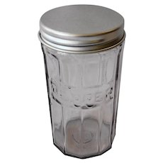 Vintage Hoosier Glass Spice Jar Pepper