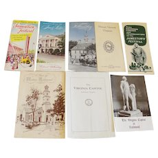 Collection 1950's Virginia / Williamsburg Travel Brochures