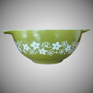 Vintage Pyrex Spring Blossom Green 1 ½ Quart Cinderella Bowl