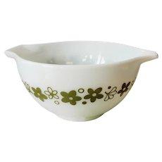 Vintage Pyrex Spring Blossom Green 1 ½ Pint Cinderella Bowl