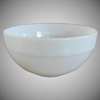 Fire King Colonial Rim White Milk Glass Mixing Bowl