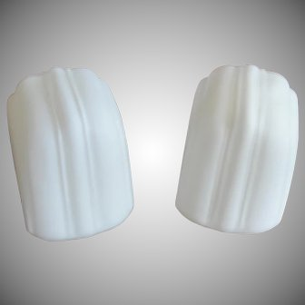 Vintage Art Deco White Frosted Glass Shades