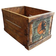 Vintage Wooden Cape Cod Cranberry Crate Box