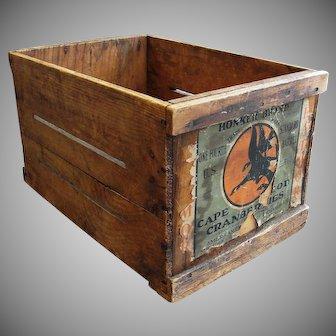 Vintage Wooden Cape Cod Cranberry Crate Box