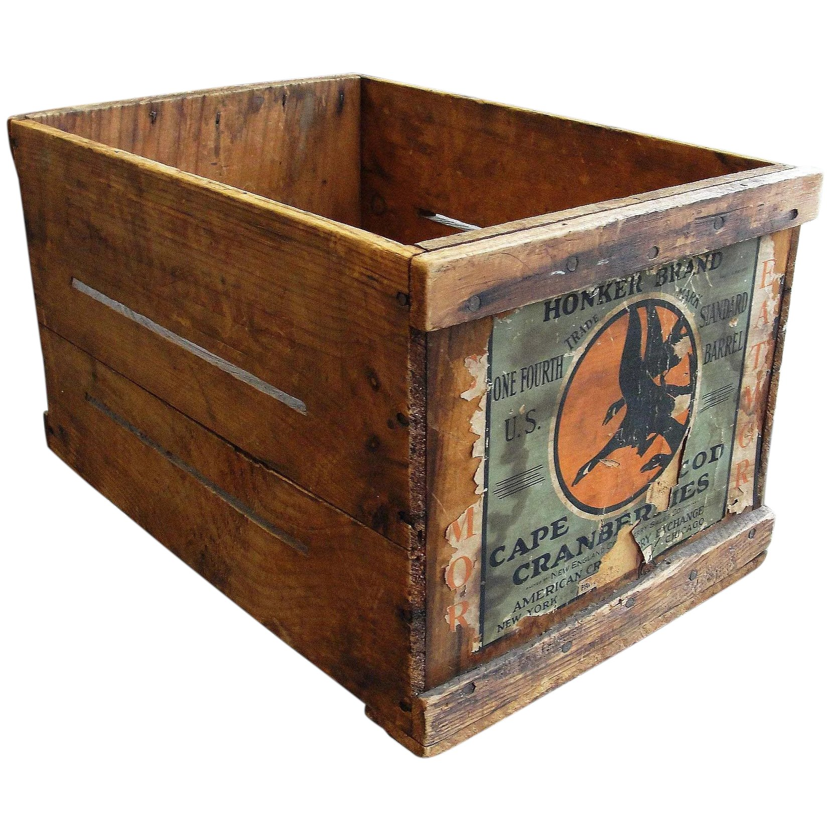Fine Vintage Wooden Cape Cod Cranberry Crate Box Home Remodeling Inspirations Gresiscottssportslandcom