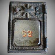 Antique Brass US Post Office Box Door
