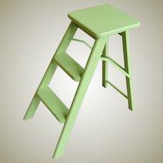 Vintage Mid Century Folding Step Stool Ladder