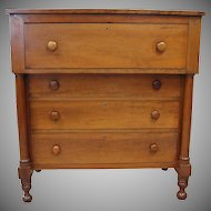 Antique Cherry Sheraton Chest of Drawers