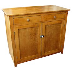 Tiger Maple Two Door Cupboard