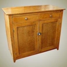 Tiger Maple Two Door Cupboard