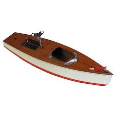 Vintage Keystone Wind Up Wooden Pond Boat
