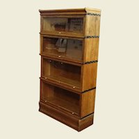Oak Four Section Barrister Stacking Bookcase