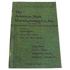 Vintage American Mask Catalog