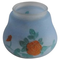 Hand Painted Frosted Glass Light Lamp Shade