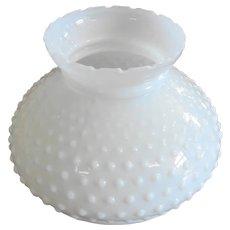 Vintage White Milk Glass Hobnail Shade