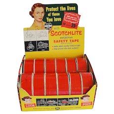 Vintage Scotch Brand Reflective Safety Tape Store Display