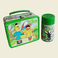 1983 Sesame Street Bert & Ernie Lunch Box with Thermos