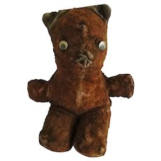 Vintage Well Loved Small Brown Teddy Bear