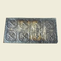 Late 1800's Decorative Tin Ceiling Panel with Acanthus Leaves