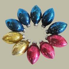 Mid Century Tear Drop Glass Christmas Ornaments