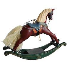 1983 Hallmark Rocking Horse Christmas Ornament