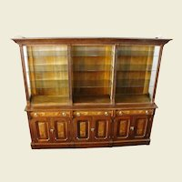 Large Late 1800's Walnut Store Display Cabinet
