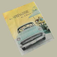 1957 Springtime In A Buick Color Advertising Brochure