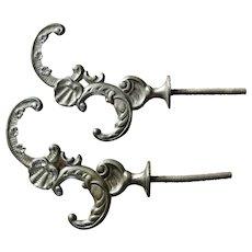 Ornate Cast Iron Coat Hooks