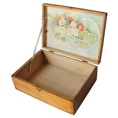 Vintage Choice Flower Seeds Garden Seed Box