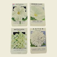 Vintage Unused Flower Seed Packets