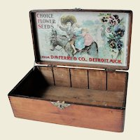 Vintage Choice Flower Seeds Display Box