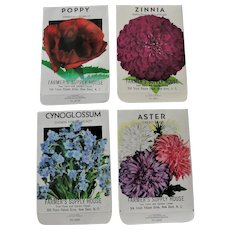 Vintage Unused Flower Seed Packets