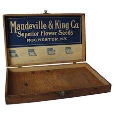 Vintage Oak Flower Seed Box Mandeville & King