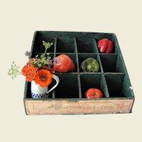 Old Wooden Vegetable Seed Display Box