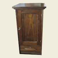 Walnut One Door Stand with Drawer and Fitted Desk Interior