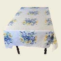 Vintage St.Regis Cotton Floral Tablecloth 66 x 50