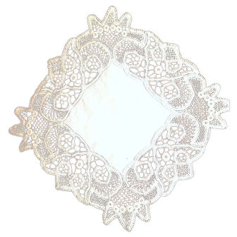 Vintage Battenburg Lace Doily – Not a Reproduction – Hand-Made – Beautiful Stitching