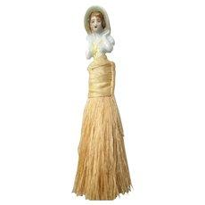 China Half Doll Vanity Brush