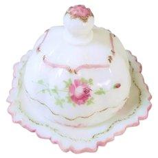 Milk Glass Butter Dish
