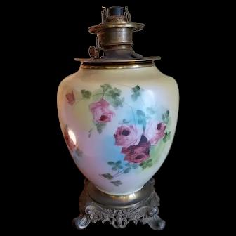 Electrified Oil Lamp, Circa 1900