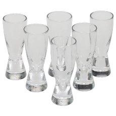 Six Steuben 8055 Pattern Cordial Glasses
