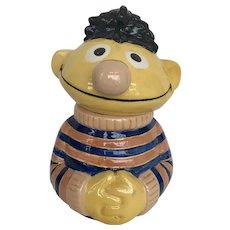 Sesame Street Ernie Cookie Jar Vintage Handmade 1979